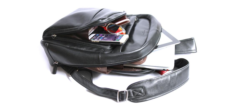 Mochila piel de trabajo con funda extraible para el portátil - comprar online precio 150€ euros