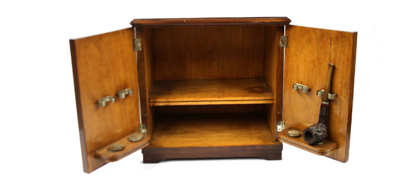 Mueble antiguo de sobremesa para pipas comprar online for Que es un canape mueble
