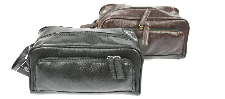 Neceser bolsa de aseo de polipiel con bolsillo frontal - comprar online precio 32€ euros