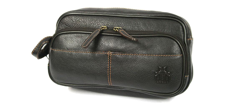 Neceser bolsa de aseo piel marrón - comprar online precio 57€ euros