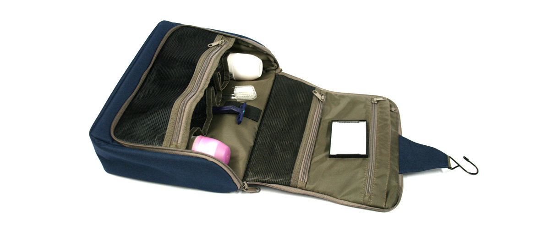 Neceser bolsa de aseo desplegable XL para viaje color azul - comprar online 36€ euros