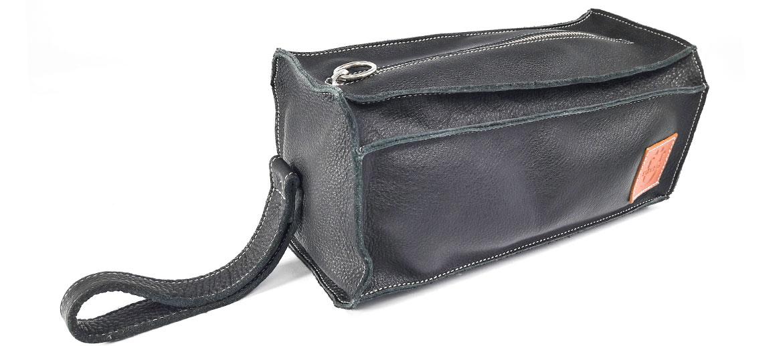 Bolsa de aseo, neceser porta todo de piel en negro - comprar online precio 112€ euros