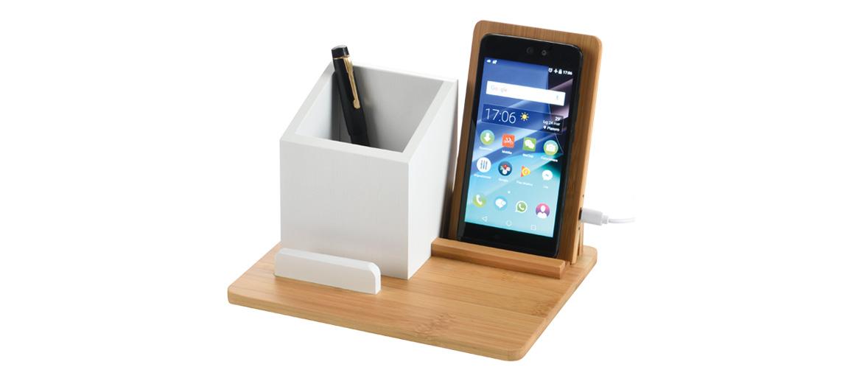 Organizador de despacho con cargador inalambrico del móvil, idea ¡genial! - comprar online precio 59€ euros