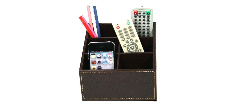 Organizador despacho, porta mandos color marrón - comprar online precio 25€ euros