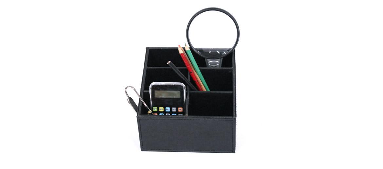 Organizador despacho, porta mandos color negro - comprar online precio 25€ euros
