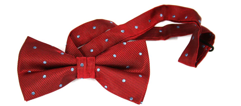 Pajarita de seda roja mota azul - comprar online precio 29€ euros