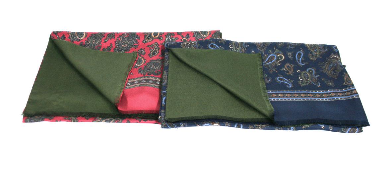 Pañuelo foulard de seda y modal dibujo cachemir - comprar online precio 95€ euros