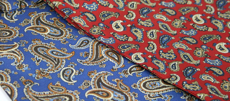 Pañuelo tipo Corbanda de seda natural dibujo cachemir - comprar online precio 47€ euros