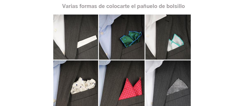 Pañuelo de seda natural para bolsillo de chaqueta - comprar online precio 25€ euros