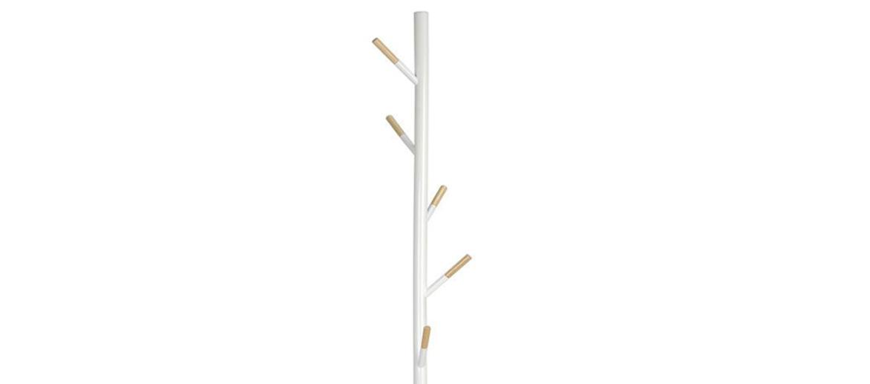 Perchero blanco con detalles en madera natural para tu casa o despacho - comprar online precio 75€ euros