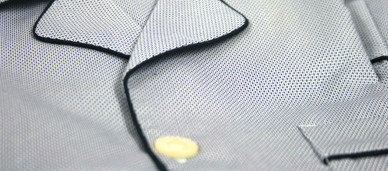 Pijama de algodón dibujo pequeño azul y blanco para el invierno - comprar online precio 70€ euros