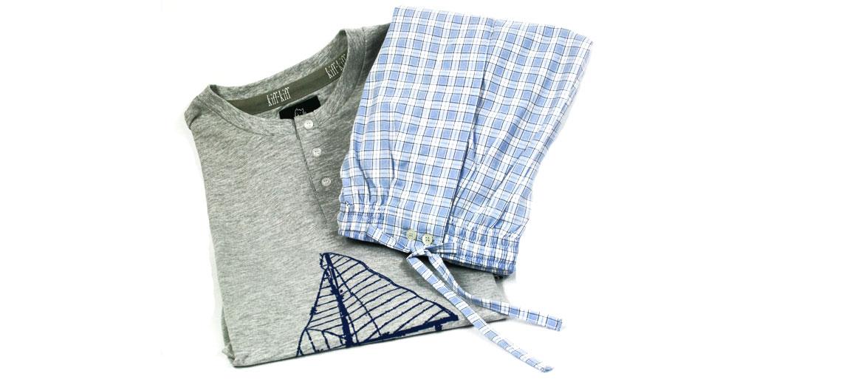Pijama de punto y tela para el verano - comprar online precio 55€ euros