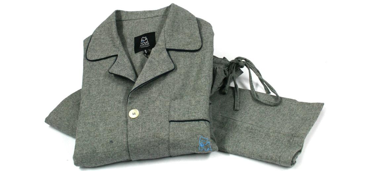 Pijama manga larga para el invierno color gris - comprar online precio 72€ euros