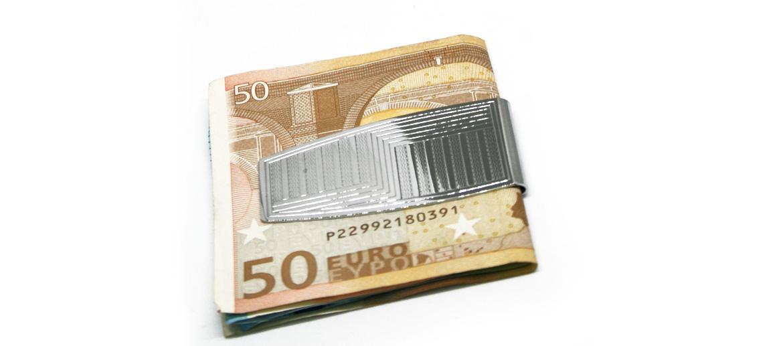 Pinza de billetes plateada - comprar online precio 24€ euros