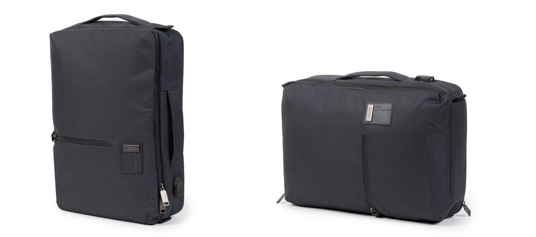 Porta documentos convertible en mochila con entrada de USB color azul - comprar online precio 90€ euros