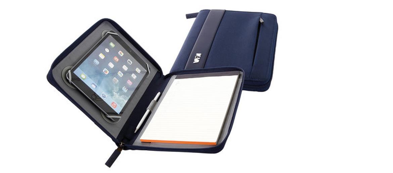 Portafolios para Ipad o tableta A5 marca Nava color azul - comprar online precio 49€ euros