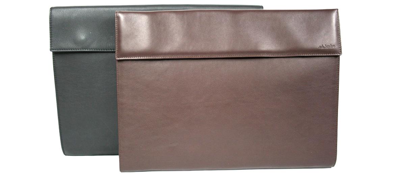 Portafolios en piel de vacuno negra o marrón - Precio 128€ comprar online - Marca Solohombre
