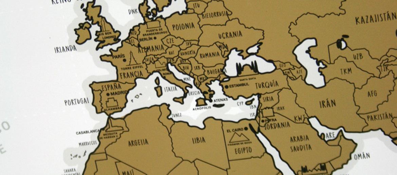 Póster de mapa del mundo rascable - comprar online 20€ euros