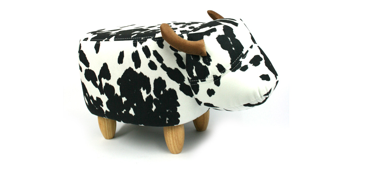 Puff banqueta para apoyar los pies con forma de vaca - comprar online precio 115€ euros