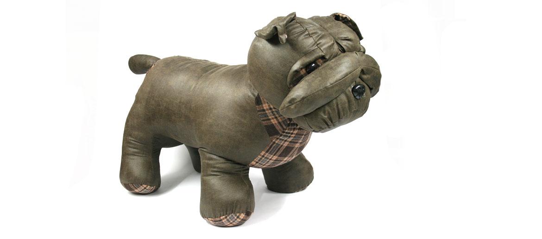 Puff banqueta para los pies perro bulldog - comprar online precio 139€ euros