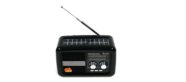 Radio AM-FM estilo retro con altavoz por bluetooth con panel solar para tu casa o despacho - comprar online precio 60€ euros