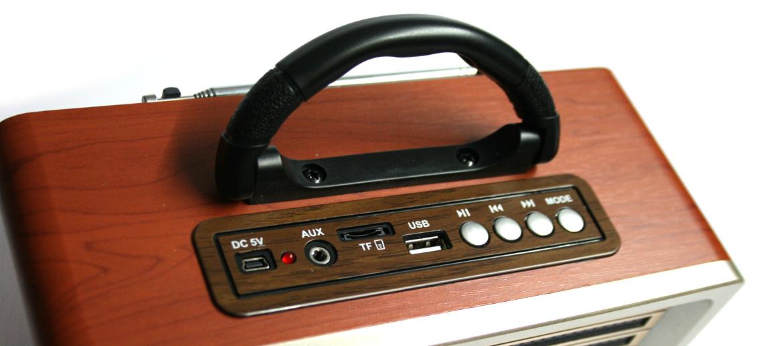 Radio AM-FM estilo retro con bluetooth y mando a distancia - comprar online precio 75€ euros