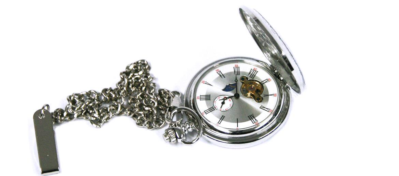 Reloj de bolsillo con fase lunar y maquinaria a la vista - Comprar Online Precio 49€ euros