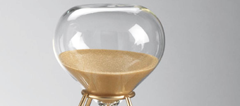 Reloj de arena 30 minutos de sobremesa con soporte - comprar online precio 22€ euros
