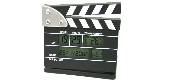 Reloj despertador con forma de claqueta - comprar online precio 35€ euros