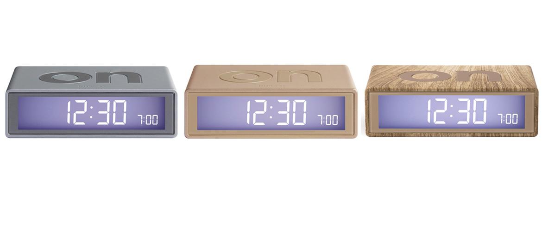 Reloj despertador On/Off metalizado o símil madera - comprar online precio 35€ euros