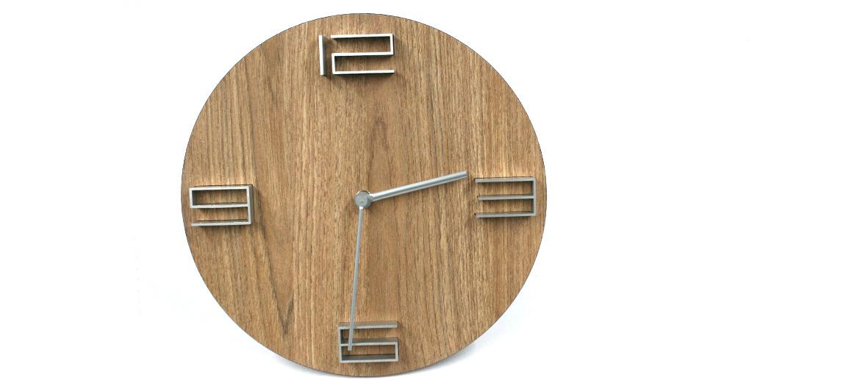 Reloj de pared de madera natural y aluminio para tu despacho o casa - Solohombre