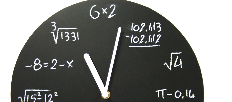 Reloj de pared para los hombres que les gusta las matemáticas - comprar online precio 25€ euros