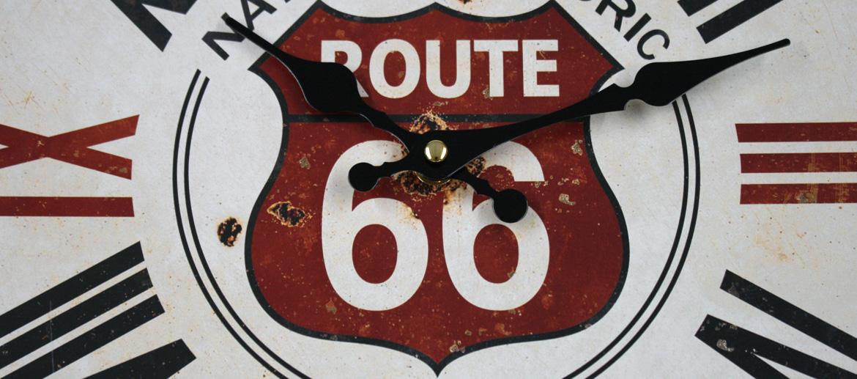 Reloj de pared para los ¡nostálgicos! de la Ruta 66 - Solohombre