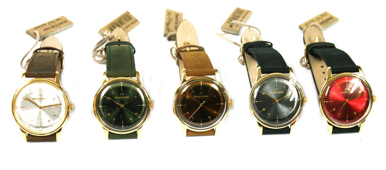 Reloj de pulsera dorado con correa de piel marca Melbourne - comprar online precio 119€ euros