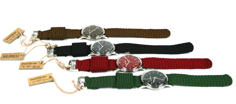 Reloj de pulsera con correa de algodón trenzado marca Melbourne - comprar online precio 99€ euros