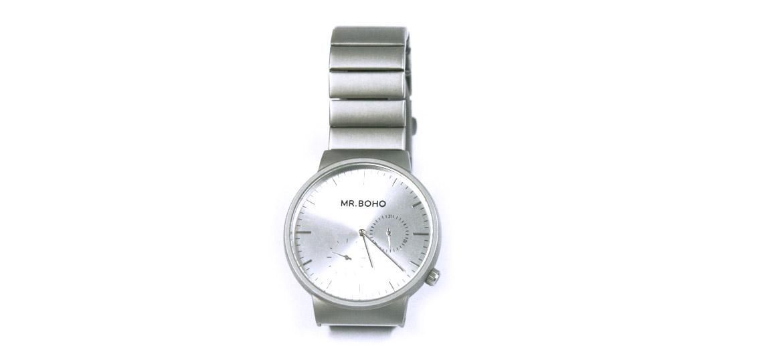 Reloj de pulsera de acero mate marca Mr Boho - comprar online precio 120€ euros