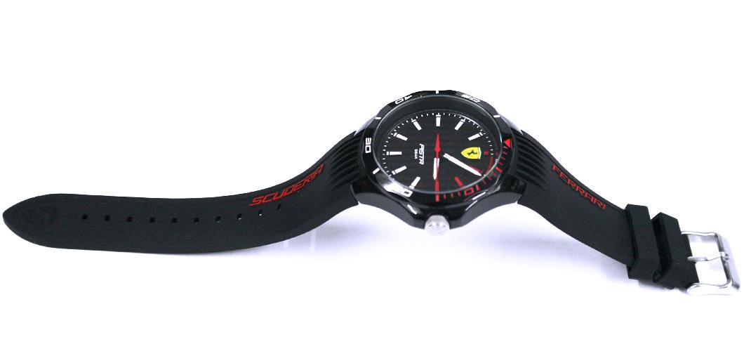 Reloj de pulsera de esfera y correa negra marca Ferrari - comprar online precio 99€ euros