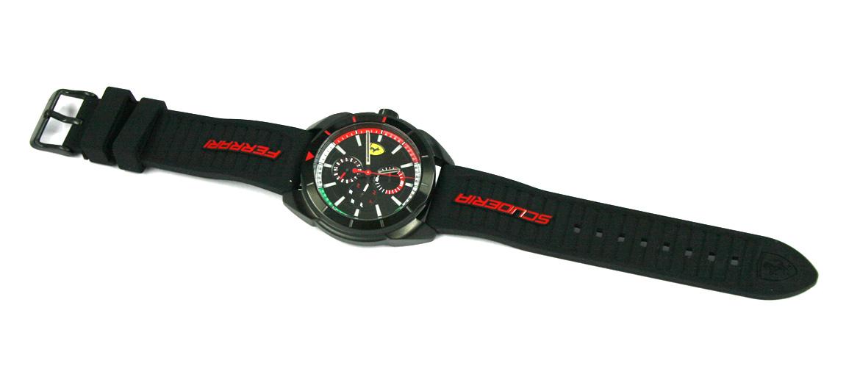 Reloj de pulsera caja negra multifunción marca Ferrari - comprar online precio 175€ euros
