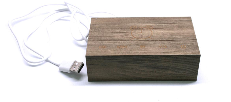 Reloj despertador de madera para ver la hora con un clic o un aplauso - comprar online precio 55€ euros
