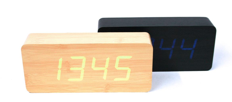 Reloj despertador y temperatura para ver la hora con un clic o un aplauso - comprar online precio 79€ euros