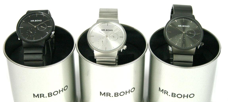 Reloj de pulsera multifuncíon en acero marca Mr. Boho - comprar online precio 120€ euros