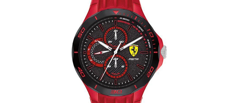 Reloj multifunción color rojo con esfera negra marca Ferrari - comprar online precio 130€ euros