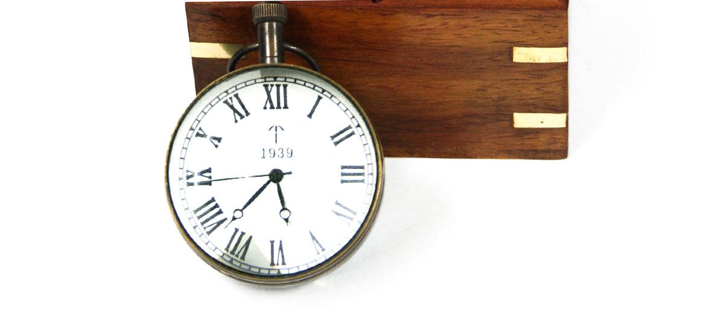 Reloj náutico sobremesa con lupa - Precio 32€ comprar online