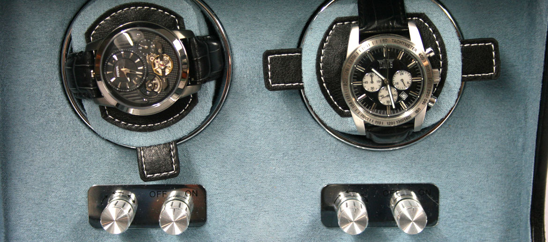 Relojero automático para dos relojes en movimiento - comprar online precio 290€ euros