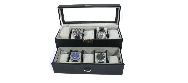 Relojero caja de relojes de dos pisos para 10 relojes - comprar online precio 52€ euros