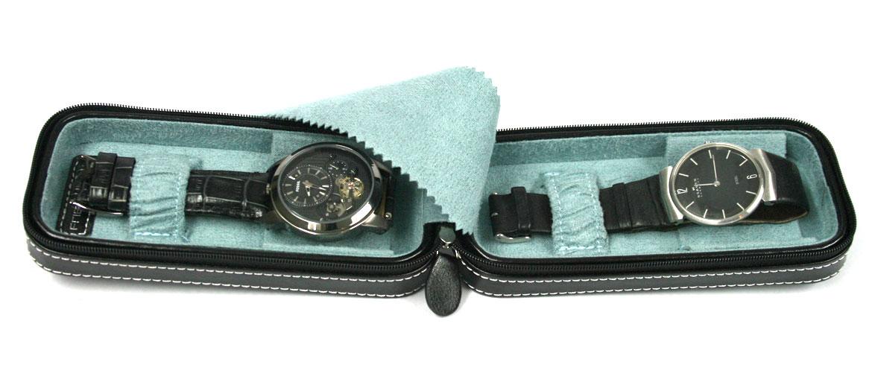 Relojero de viaje para llevar dos relojes - comprar online precio 39€ euros