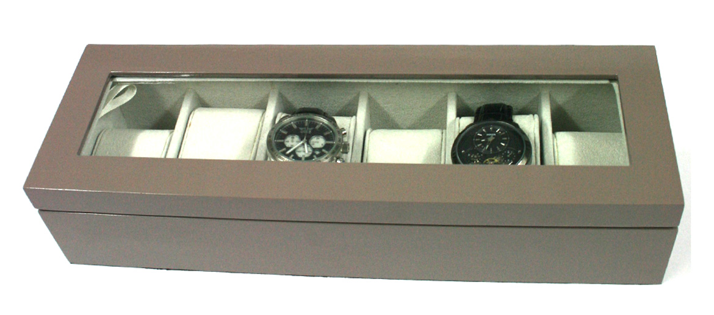 Relojero para 6 relojes de madera lacada - comprar online precio 50€ euros