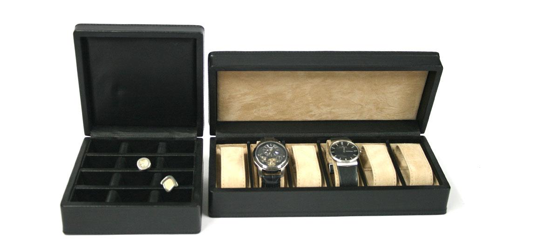 Relojero de piel para guardar 6 relojes marca Solohombre - comprar online precio 145€ euros