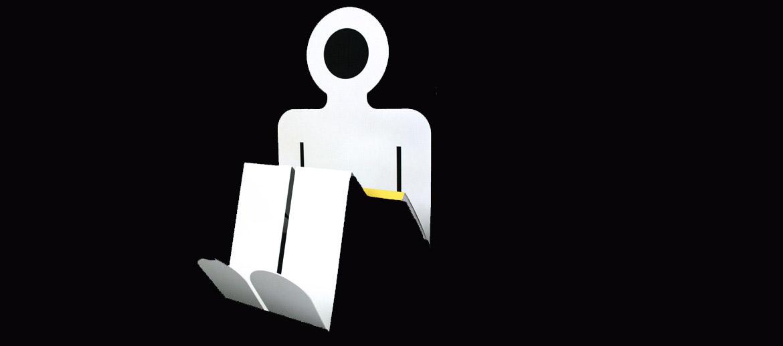 Revistero para casa o despacho con forma de hombre color blanco - comprar online precio 45€ euros
