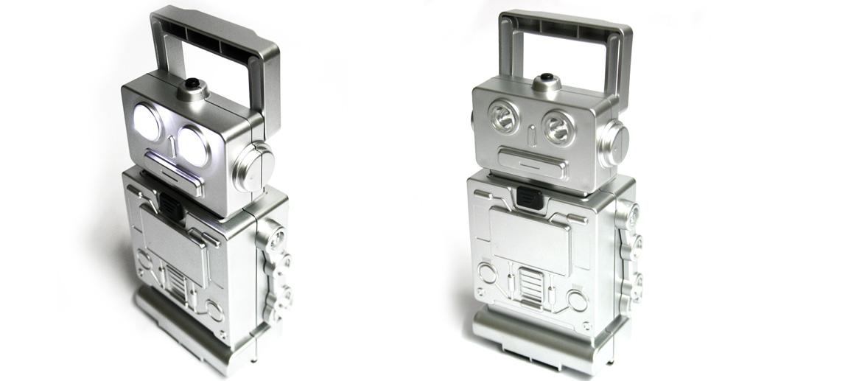 Set de herramientas linterna de leds con forma de robot - comprar online precio 24€ euros
